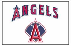 TeamsBanner Los Angeles Angels Custom Baseball Banner