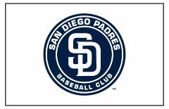 San Diego Padres Custom Baseball Banner TeamsBanner