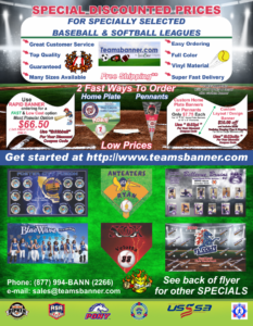 Flyer Baseball Discount Prices TeamsBanner