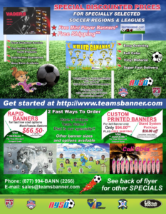 Flyer Soccer Discount Prices TeamsBanner